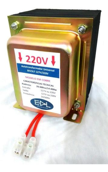 Inversor De Voltagem 110v 220v 20000va Em Cobre 40000 Btus