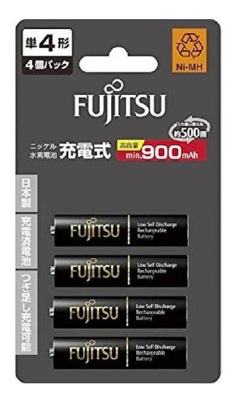 Pilhas Fujitsu Aaa 900mah Recarregáveis 500 Recargas + 1case