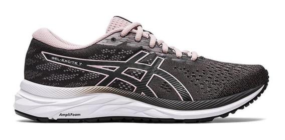 Zapatillas Mujer Asics Gel Excite 7 Gris/rosa - Running