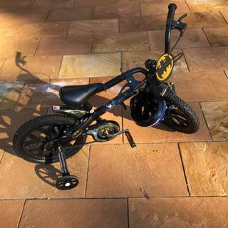 Bicicleta Infantil Batman Com Rodinhas - Impecável