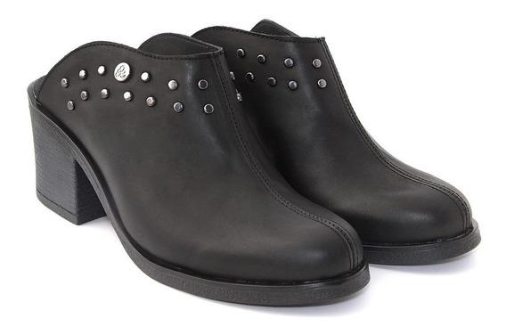 Zapatos Zueco Mujer Cuero Vacuno Tachas Laty Citadina