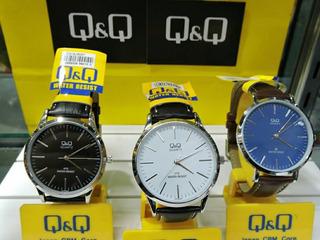 Reloj Q & Q Hombre.malla De Eco Cuero