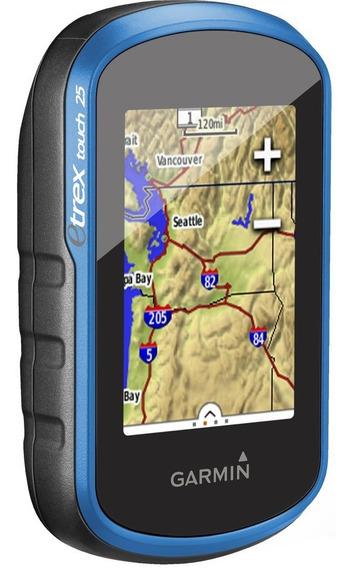Gps Garmin Etrex 25 Touch Com Mapa Rodoviario E Topografico