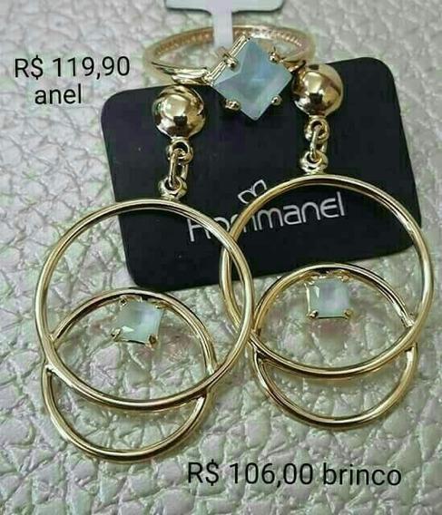 Conjunto Anel + Brinco Rommanel