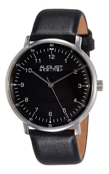 Reloj De Hombre De Acero Inoxidable As8090bk De August St