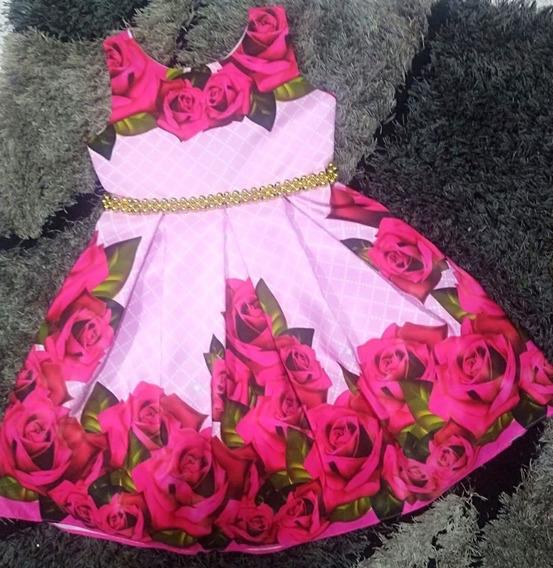 Vestido Mariposas Y Flores Escote En V - Ig