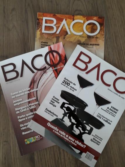 Revistas Baco Vinho - Edições Raras N 2 & 3 De 2012 + N 9