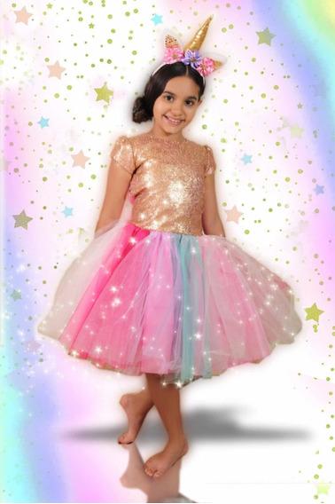 Disfraz Unicornio Niña Vestido Princesa Disney