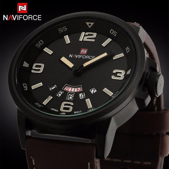 Relógio De Pulso Militar Naviforce - Frete Grátis.