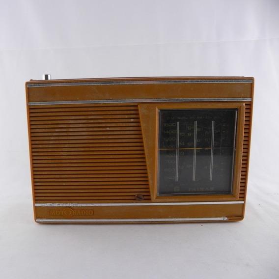 Rádio Antigo Motoradio 6 Faixas - Usado C/ Defeito