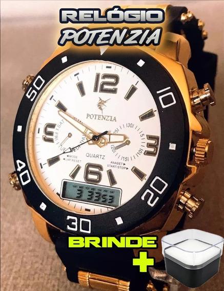 Relógio Masculino Luxo Barato Lindo + Caixa