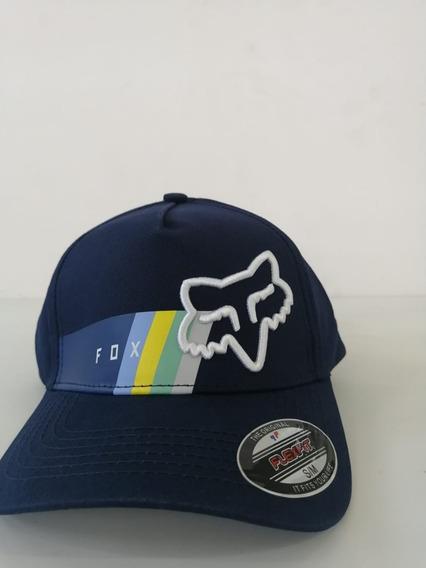 Gorra Fox Azul Marino Logo Blanco