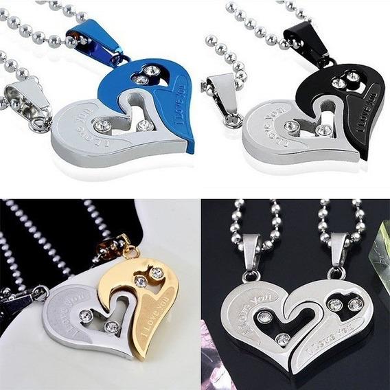14 De Febrero Collar Corazon Parejas Amor Enamorados...