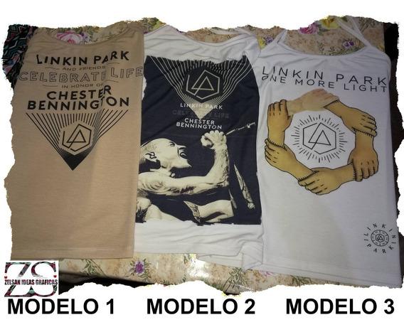 Musculosa Modal De Mujer Linkin Park 3 Diseños Exclusivos