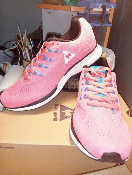Zapatillas Le Coq Sportif Fierce Pink Cian Nuevas Originales