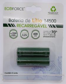 Bateria De Lítio Recarregável Solar 600mah 3,2v - Aa