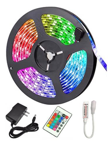Cinta Led Multicolor 5 Metros + Control + Adaptador