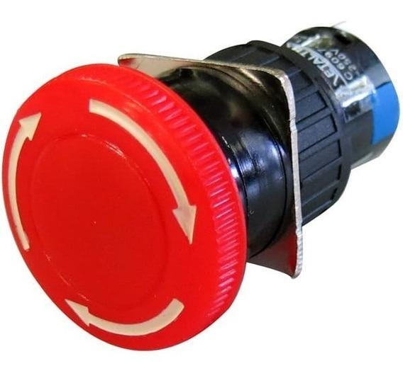 Botao De Emergencia 16mm C/ Trava-vermelho-2 Rev