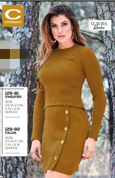Sweater Ocre Acrilico Mod. 129-81 Cklass Oi-2019