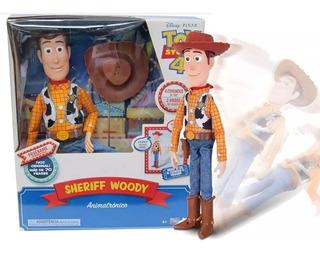 Muñeco Woody Toy Story 4 Cae Por Tu Voz Animatronico Orig!!