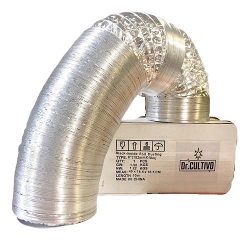 Conducto Ducto 6 Pulgadas Aluminio Ventilación 10 Metros