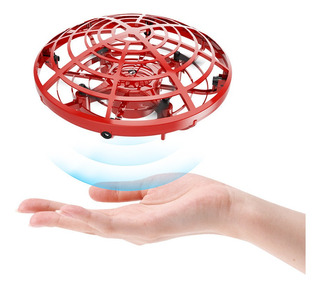 Mini Dron Con Sensores Operado A Mano Para Niños, Rojo
