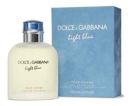 Imagen 1 de 1 de Perfume Dolce Y Gabbana Light Blue Pour Homme Edt 125 Ml