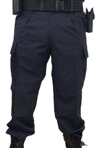 Pantalón Táctico De Policía Ripstop Antidesgarro Azul
