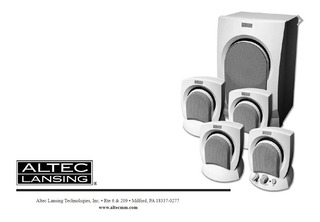 Home Theater 4.1 Altec Lansing Sub + 4 Parlantes -fuente Mal