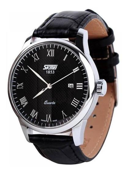 Relógio Masculino Skmei Analógico 9058 1 Ano De Gar+nfe