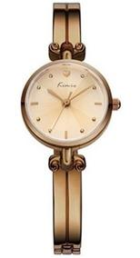 Relógio Feminino Redondo Da Moda Kimio 6041 Pulseira Fina