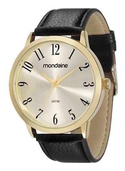 Relógio Masculino Mondaine Pulseira De Couro 83286gpmvdh2