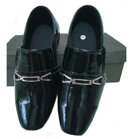 Sapato Social Confort Preto Envernizado