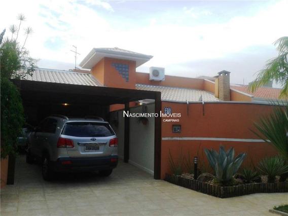 Casa Residencial À Venda, Jardim Das Palmeiras, Campinas. - Ca0170