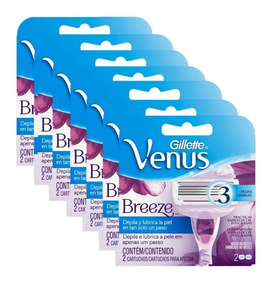 Kit Com 14 Cargas Gillette Venus Breeze