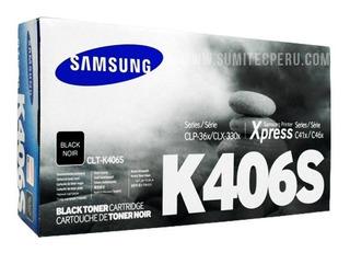 Toner Samsung 406 Negro Clt-k406s Clx-3305w 365w