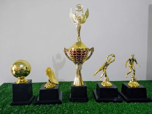 Trofeu Campeão 44 Cm + 4 Melhores Campeonato Original