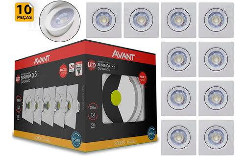 Imagem 1 de 5 de Kit 10 Spot 5w Led Direcionável Embutir Gesso Teto