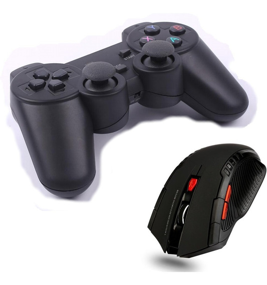 Controle Joystick Wireless + Mouse Gamer Wireless