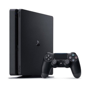 Playstation 4 Ps4 Slim 500gb Com 2 Controles + 3 Jogos