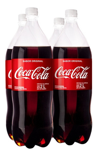 Refresco Coca - Cola Sabor Original Pet 2l 4 Unidades.