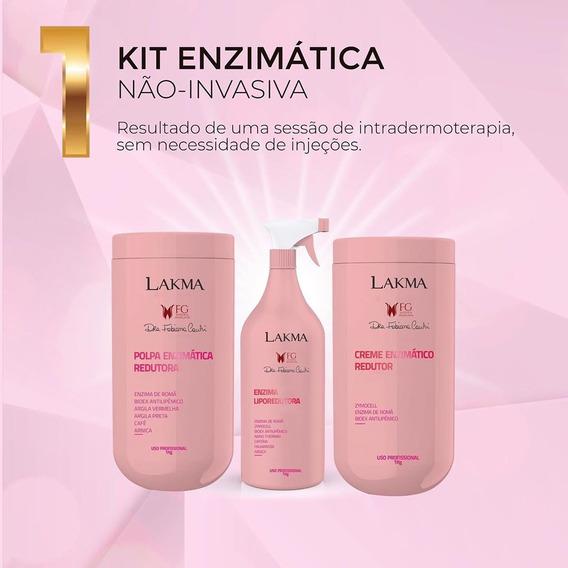 Lakma Kit Lipoescultura Enzimática Não Invasiva 3 Itens