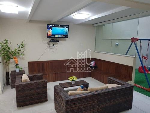 Apartamento Com 3 Dormitórios À Venda, 97 M² Por R$ 610.000,50 - Santa Rosa - Niterói/rj - Ap2609