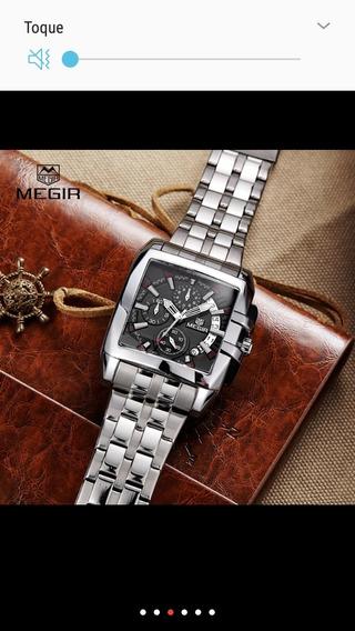 Relógio Megir - M2018 - Pulseira Inox - Novo