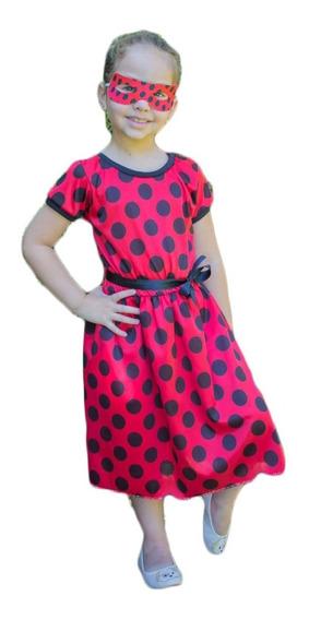 Fantasia Princesa Ladybug Vestido Infantil Princesas Disney