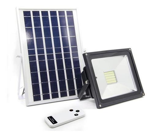 Panel Solar - Reflector Led + Contro Para Exteriores