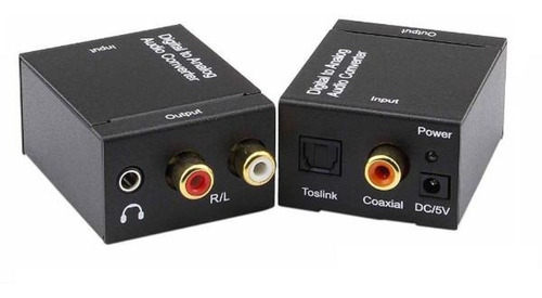 Conversor Audio Óptico Toslink In A Rca Análogo Y 3.5mm Out