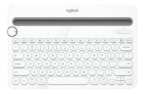 Imagen 1 de 2 de Teclado bluetooth Logitech K480 QWERTY español color blanco