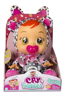 Cry Babies Lea Muñeca Bebe Llorón Entrega 1dia Habil