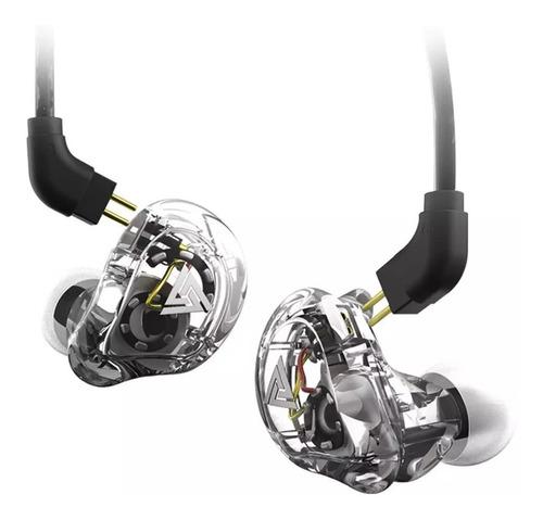 Fone Qkz Vk1 In Ear Dual Driver Retorno Com Mic Com Case